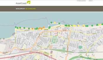 JBA Asset Coast map example
