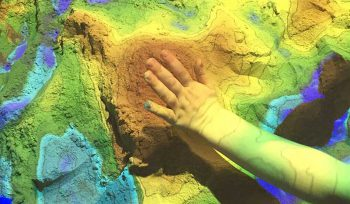 JBA Augmented Reality Sandbox at Manchester Science Festival 2017