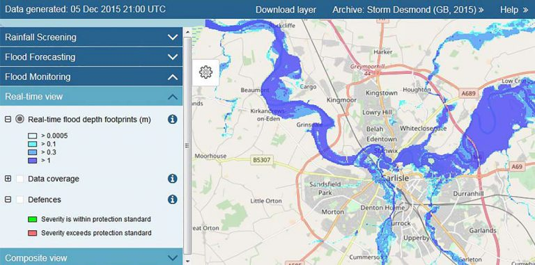 Flood Monitoring and Forecasting - flood forecasting