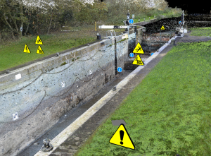 JBA Wadenhoe Lock asset inspection - channel