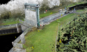 Wadenhoe Lock asset inspection - aerial