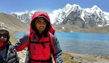 JBA Nazimul Islam, MSc student, in the Himalayas