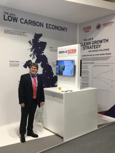 JBA at COP24 - Martin at UK clean growth stand