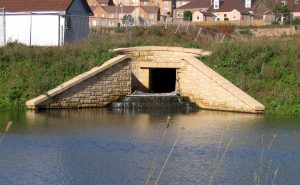 Example outfall and storage pond