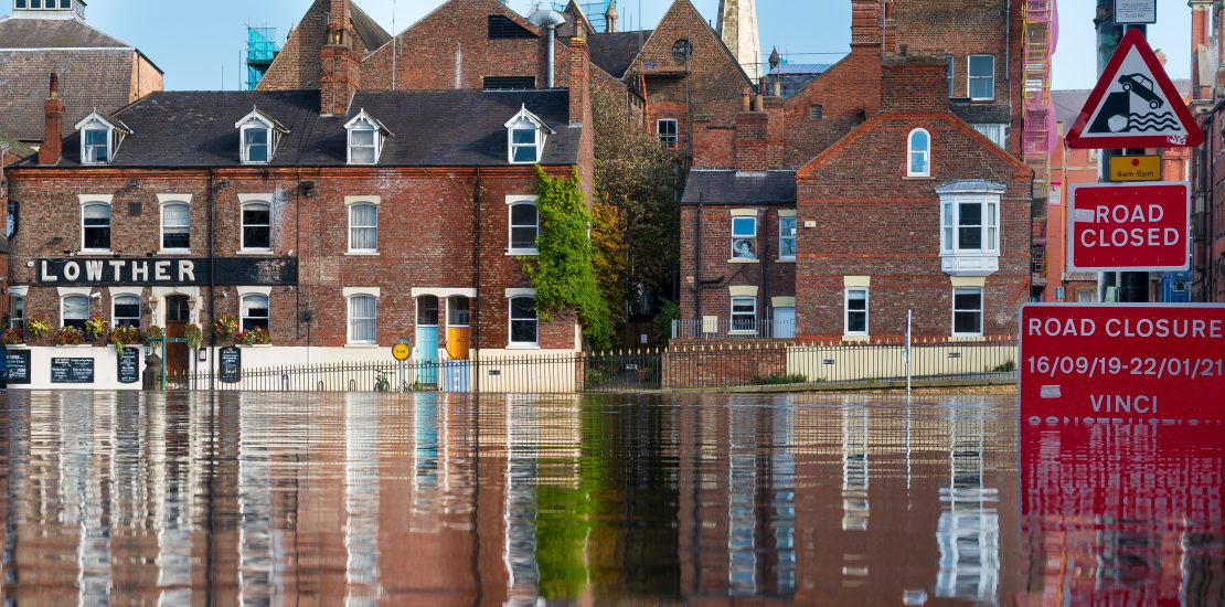 Flooding in centre of York