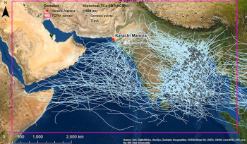 Pakistan typhoon track map