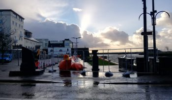 Temporary flood risk defences in Galway city