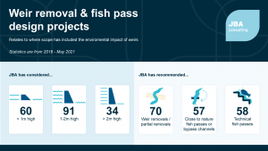 Weir removal and fish pass design projects